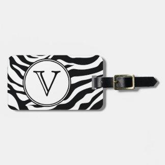 Etiqueta personalizada rayas negras del bolso de l etiqueta de equipaje