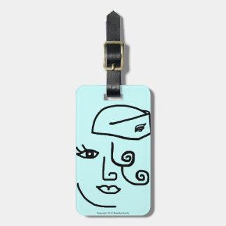 Etiqueta personalizada retra #4 del equipaje del a etiquetas para equipaje