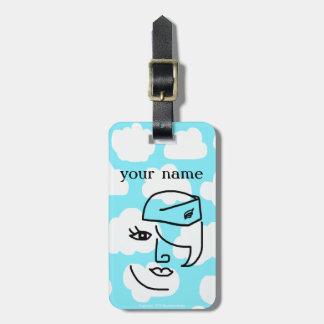 Etiqueta personalizada retra del equipaje del asis etiquetas maletas