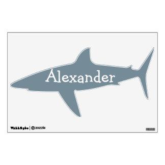 Etiqueta personalizada tiburón de la pared para lo vinilo adhesivo