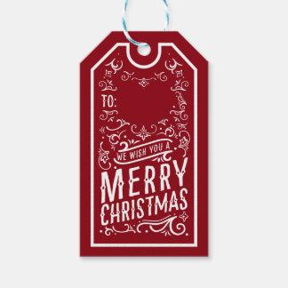 Etiqueta personalizada tipografía festiva del etiquetas para regalos