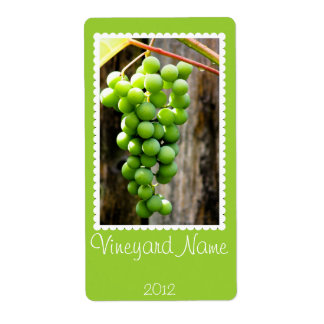 Etiqueta personalizada uva verde del vino etiquetas de envío