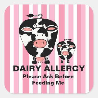 Etiqueta personalizada vaca de la granja de la