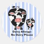 Etiqueta personalizada vaca de la granja de la ale