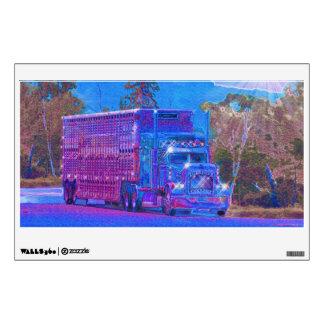 Etiqueta pesada de la pared del camión del transpo