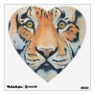 Etiqueta pintada aceite del corazón del tigre del vinilo decorativo