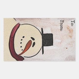 Etiqueta pintada acrílico primitivo del navidad de