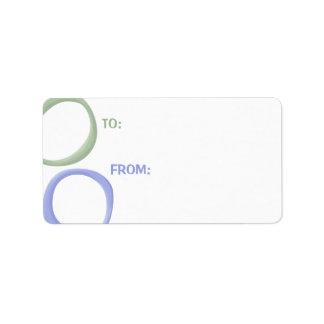 Etiqueta pintada del regalo de la lavanda de los c etiqueta de dirección