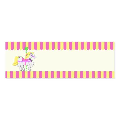 Etiqueta pintada del regalo de los potros tarjetas de negocios