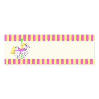 Etiqueta pintada del regalo de los potros tarjetas de visita mini