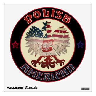 Etiqueta polaca de la pared de American Eagle Vinilo Adhesivo