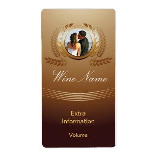 Etiqueta premiada del vino del oro con besos etiqueta de envío
