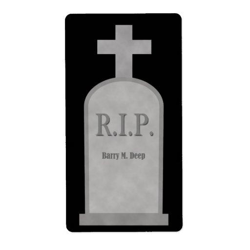 Etiqueta profunda Burry de la piedra sepulcral de  Etiquetas De Envío