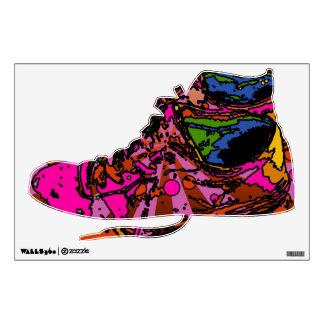 Etiqueta psicodélica de la pared de las zapatillas