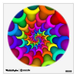 Etiqueta psicodélica de la pared del espiral del vinilo adhesivo