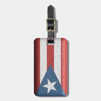 Etiqueta puertorriqueña texturizada del equipaje etiquetas de equipaje