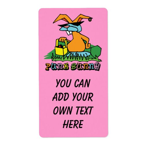Etiqueta punky de Avery Pascua del conejito Etiquetas De Envío