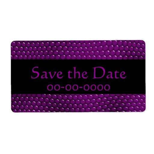 Etiqueta púrpura bonita de las escalas de la piel  etiquetas de envío