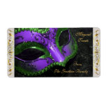 Etiqueta púrpura de la hornada de Halloween de la  Etiqueta De Envío