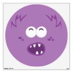 Etiqueta púrpura de la pared de la cara del