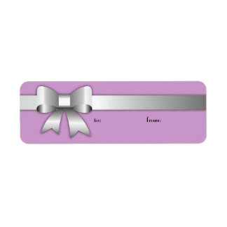 Etiqueta púrpura de plata de 311 Arcos-Licious Etiqueta De Remitente