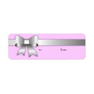 etiqueta púrpura del caramelo de plata etiqueta de remitente
