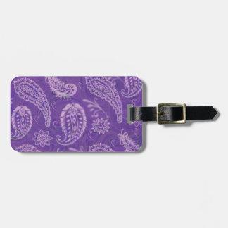 Etiqueta púrpura del equipaje de Paisley Etiqueta De Maleta