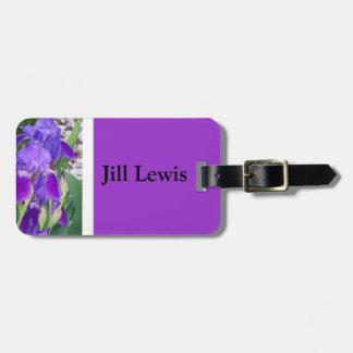 Etiqueta púrpura del equipaje del iris etiqueta de maleta