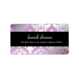 etiqueta púrpura del reflejo 311-Damask Etiqueta De Dirección