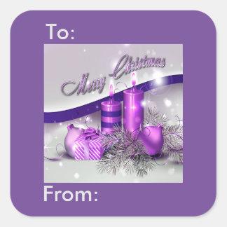 Etiqueta púrpura del regalo de la chispa de las
