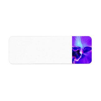 Etiqueta púrpura del remite de la orquídea de la etiqueta de remitente