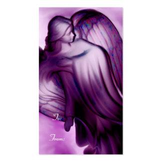 Etiqueta púrpura majestuosa del regalo del ángel tarjetas de visita