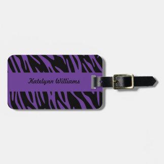 Etiqueta púrpura personalizada del equipaje de la