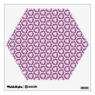 Etiqueta púrpura y gris ligada magenta de la pared