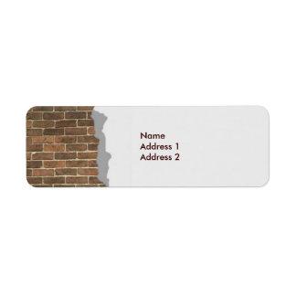 Etiqueta quebrada de Avery de la pared de ladrillo Etiquetas De Remite