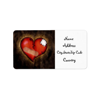 Etiqueta quebrada de la reparación de la Corazón-d Etiqueta De Dirección