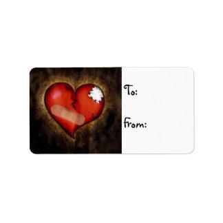 Etiqueta quebrada de la reparación del Corazón-nav Etiquetas De Dirección