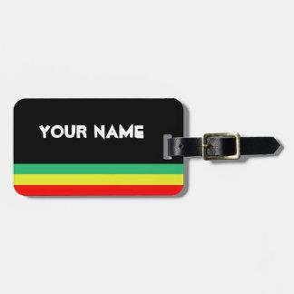 Etiqueta Rasta-Rayada adaptable del equipaje Etiquetas Maletas