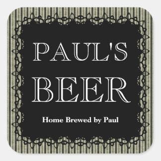 Etiqueta rayada adaptable de la botella de cerveza