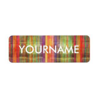 Etiqueta rayada moderna del nombre del modelo del etiqueta de remite