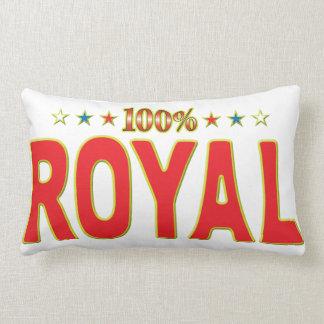 Etiqueta real de la estrella almohadas