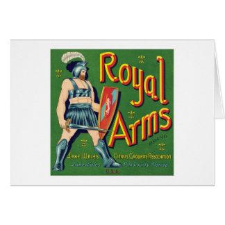 Etiqueta real de la fruta de los brazos del tarjeta pequeña