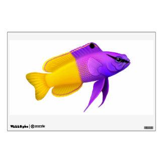 Etiqueta real de la pared de los pescados de Gramm Vinilo Adhesivo