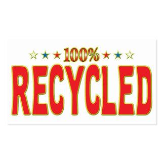 Etiqueta reciclada de la estrella tarjetas de visita