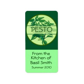 Etiqueta rectangular grande de PESTO Etiquetas De Dirección