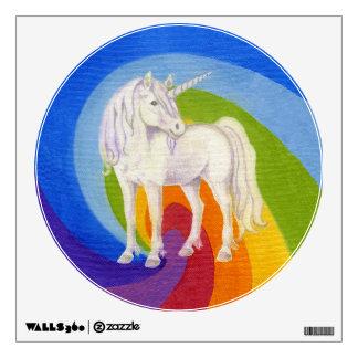Etiqueta redonda 12x12 de la pared del arco iris vinilo