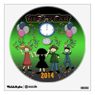 Etiqueta redonda de la medianera el de Año Nuevo Vinilo