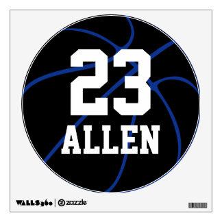 Etiqueta redonda de la pared del baloncesto de vinilo