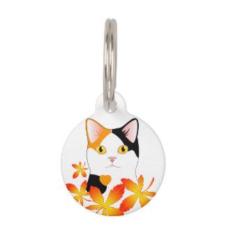 Etiqueta redonda del mascota del gato Bobtail Identificador Para Mascota