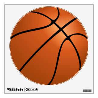 Etiqueta redonda grande de la pared del baloncesto